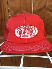 VTG DuPont  Hydrofluoric Acid SnapBack Hat Cap Trucker Unworn USA Made
