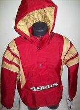 SAN FRANCISCO 49ERS Starter Hooded Half Zip Pullover Jacket 5X RED