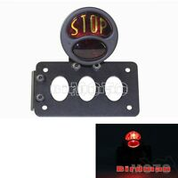 Black Tail Lamp Brake Light STOP License Plate Bracket Side Mounting For Harley