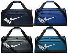 Nike BRASILIA Training Medium Duffel Gym Bag - BA5334 Gray Blue Green Orange
