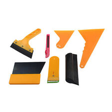 7X Car Window Scraper Wrap Tint Vinyl Film Squeegee Cleaning Tool Kit