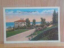 Linen post card, Lake Shore Drive, Long Beach, Michigan City, Indiana