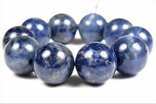 BARGAIN ~ Royal Blue Sodalite Smooth Round Bead- 12.8~12.9 mm - 10 beads - 4946A