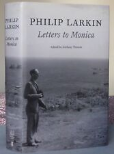 Philip Larkin LETTERS TO MONICA 1st/1st Hardback pb