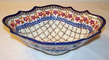 Boleslawiec Polish Pottery Kalich Unikat Signed Bowl - Ex Condition - Free Ship