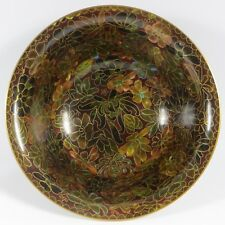 VTG Chinese Asian Cloisonne Bowl Beautiful Brown Floral c 1950's Jingfa Mint