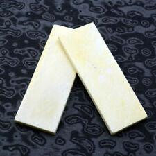 2Pcs Bovine Bone DIY Knife Handle Sword Gun Scale Slabs Making Patch Material #s