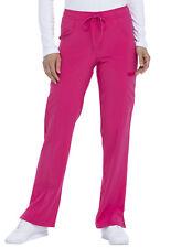 Dickies Scrubs Mid Rise Straight Leg Drawstring Scrub Pant Dk010 Hpkz Hot Pink