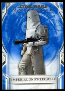 Imperial Snowtrooper #25 Topps 2018 Star Wars Masterwork Blue Trading Card
