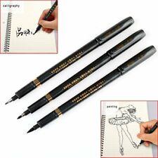3Pcs S/M/L Chinese Calligraphy Brush Pen Black Pen Easy Writing New