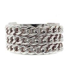 SALE Cuff Bangle Bracelet Silver Chain Chunky Statement Punk | FREE SHIPPING