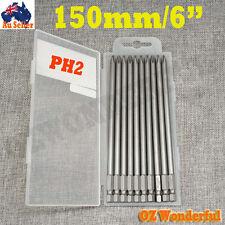 10PCS 150MM(6'') IMPACT SCREWDRIVER BITS MAGNETIC CRV PH2 Screw Driver Drill Bit