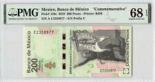 """Mexico 2010 P-129c PMG Superb Gem UNC 68 EPQ 200 Pesos """"Commemorative"""""""