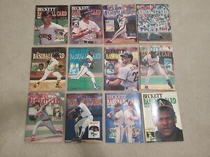 Beckett Baseball Card Monthly 1989 Complete Year Set.