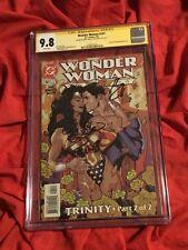 CGC SS 9.8~WONDER WOMAN #141~ADAM HUGHES SUPERMAN~SIGNED GAL GADOT+HENRY CAVILL