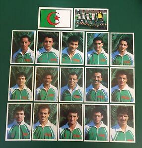 LOTTO DI 17 FIGURINE CALCIATORI CALCIO FLASH WORLD CUP MEXICO 86 TEAM ALGERIA