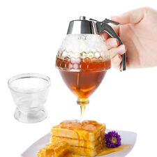 Squeeze Bottle Honey Jar Container Bee Drip Dispenser Kettle  Pot Stand Holder