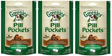 GREENIES PEANUT BUTTER DOG PILL POCKETS FOR TABLETS 3 PACK (3 x 3.2oz)