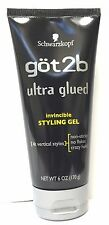 Schwarzkopf Got2b Ultra Glued Invincible Styling Gel 4 Vertical Styles 6 Oz/170g