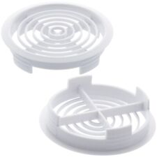 5 ROUND SOFFIT VENTS Easy Push Fit Eaves Disc White UPVC Lightweight Ventilation
