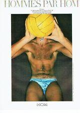 PUBLICITE ADVERTISING 027  1978  Hom  sous vetements maillots de bain Homsun