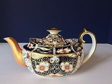 ROYAL CROWN DERBY ANTIQUE 1902 Traditional Imari #2451 MINI TEA COFFEE POT  LID