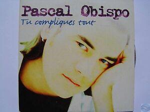 PASCAL OBISPO tu compliques tout CD SINGLE écriture violette