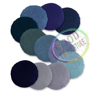 Mf Turquoise Blue Navy Royal Blue Grey Microfiber Velvet Round Cover/Pillow Case