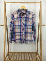Talbots Women's Plaid Button Front Long Sleeve Shirt Size 12