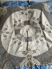 More details for hand embroidered madeira tablecloth 135 cm x 135cm