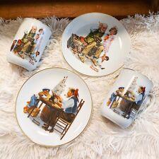 Norman Rockwell (2) Vtg 82/84 Plate/Mug Set