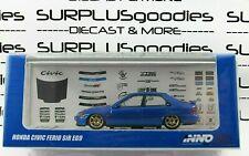 INNO64 1:64 Blue 1992 HONDA CIVIC FERIO SiR EG9 w/Extra Wheels and Decal Sheet