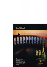 PUBLICITE ADVERTISING  1985   DOM  RUINART   l'art du Champagne