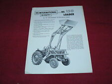 International Harvester Wagner No.150 Loader for B-275 Tractor Dealer's Brochure