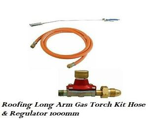Roofing Long Arm Gas Torch Kit Hose and 1000mm Regulator