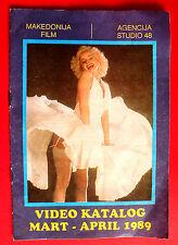 OLINKA HARDIMAN AS MARILYN MONROE COVER 14 PAGES 41 MOVIES EXYU MOVIE PROGRAM