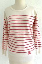 Burberry Brit Cashmere Cotton Sweater Pink Stripe Sweater Size XS