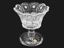 """New listing Crystal Glass Footed Bowl 6 """" Hand Cut for Sweets Fruits Candy Bohemian Crystal"""