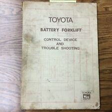 Toyota Battery Forklift Control Device Amp Troubleshooting Service Repair Manual