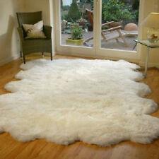 Genuine Natural Sheepskin Rug Decto 10 Pelt Rug - Ivory 5'9''x 8'10'