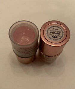 Josie Maran Argan Lip & Cheek Mini Color Stick Wildflower 0.21 oz Lot Of 2