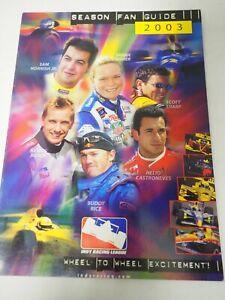 Indy Racing League Season Fan Guide Souvenir Program 2003