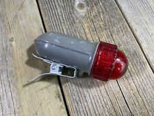 VINTAGE DELTA LIGHT LENS CLEAR RED BIKE BICYCLE LIGHT A-2050-P