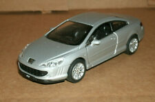 1/39 Scale Peugeot 407 Coupe Diecast Model Two-Door Car - Welly 42368 Silver