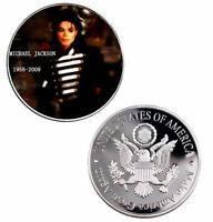 ★★ GROSSE MEDAILLE PL. ARGENT : MICHAEL JACKSON ★★ M6.143