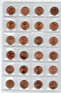 High Grade Australian One Cent Coin Set 1966 - 1990.