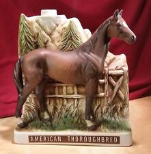 """AMERICAN THOROUGHBRED VINTAGE """"TRIBUTE TO FOUNDING ARABIANS""""  9"""" X 7"""" DECANTER"""