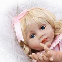 "24"" Full Body Vinyl Silicone Reborn Baby girl Doll Likelife Handmade kids gifts"