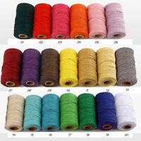 2mm Macrame Rope Cotton Twisted Cord Hand Craft String DIY Supply Home Decor