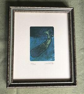 Jack Matott Signed Framed Art 1982 Blue Whale GM DuBois Holiday